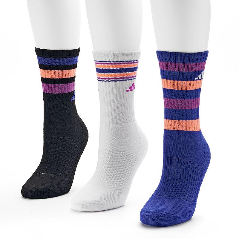 adidas 3-pk. Retro Climalite Striped Women's Crew Socks