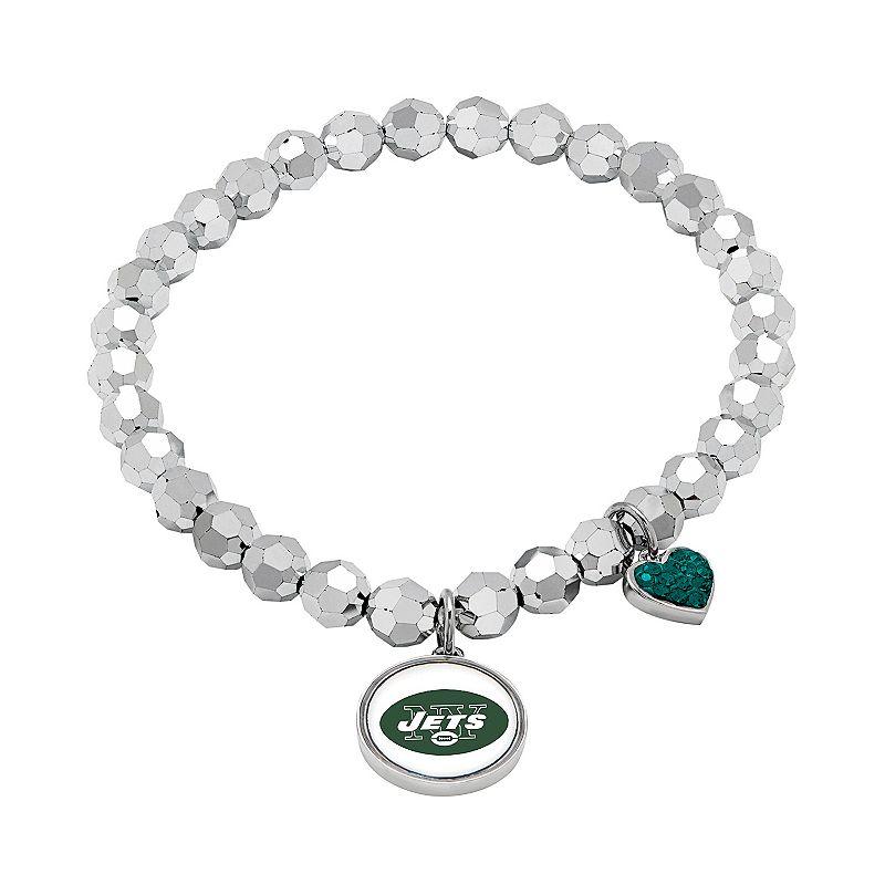 New York Jets Bead Stretch Bracelet