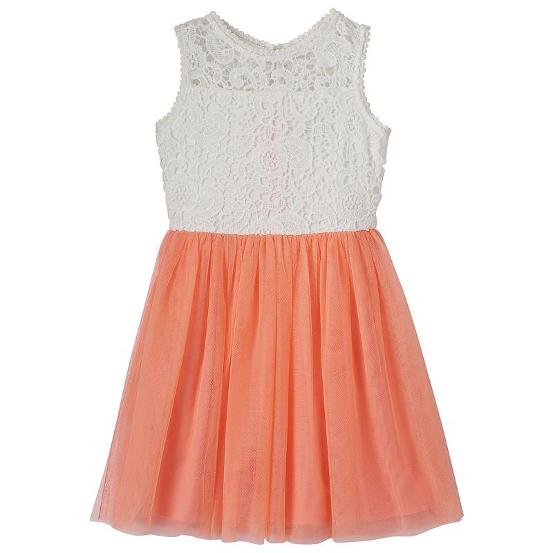Girls 7-16 My Michelle Crochet Dress