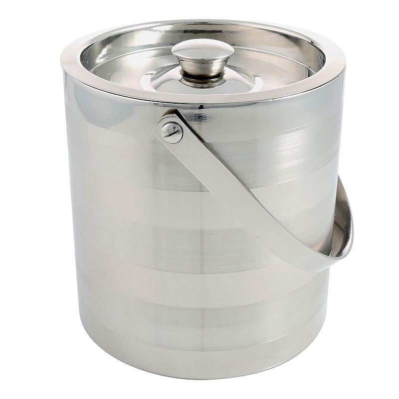 Cambridge Ellison Satin Stripe 3-qt. Double-Wall Insulated Ice Bucket