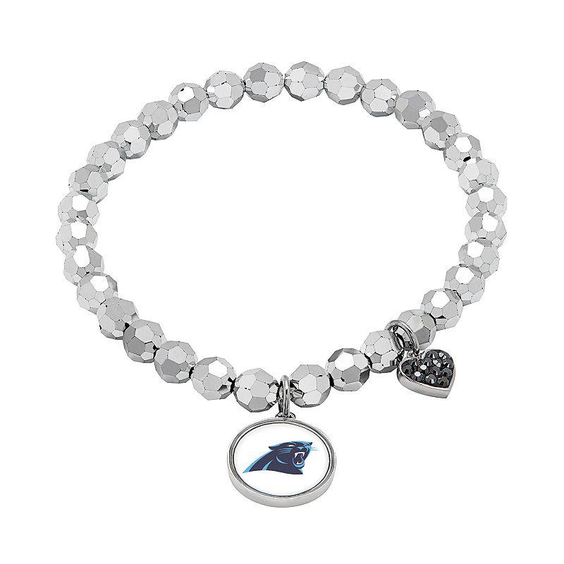 Carolina Panthers Bead Stretch Bracelet