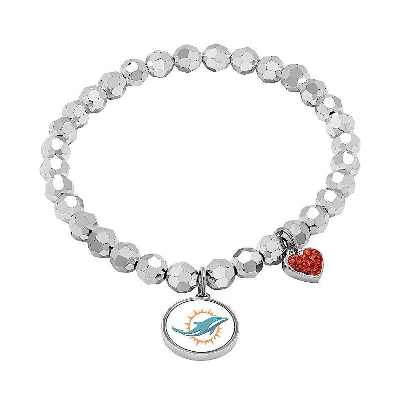 Miami Dolphins Bead Stretch Bracelet