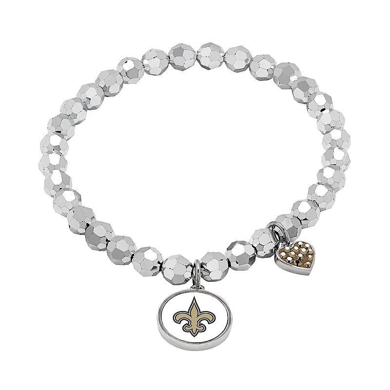 New Orleans Saints Bead Stretch Bracelet
