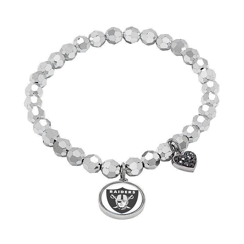 Oakland Raiders Bead Stretch Bracelet