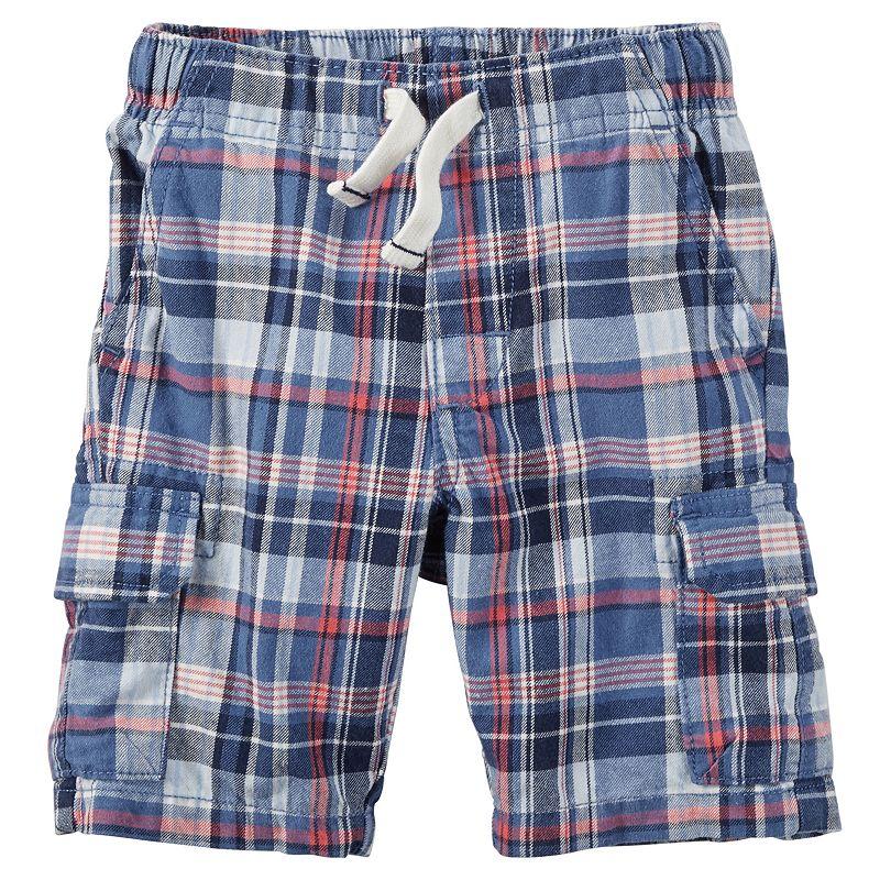 Toddler Boy Carter's Plaid Cargo Shorts