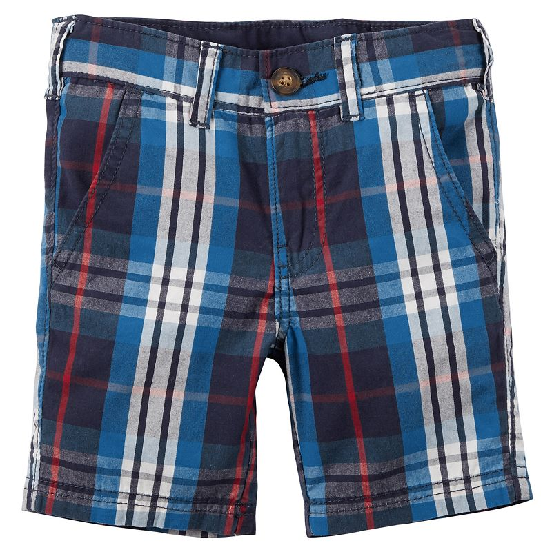 Toddler Boy Carter's Patriotic Plaid Shorts