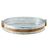 Cambridge Shiloh Galvanized 21-in. Round Serving Tray