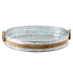 Cambridge Shiloh Galvanized 21-in. Round Serving Tray by