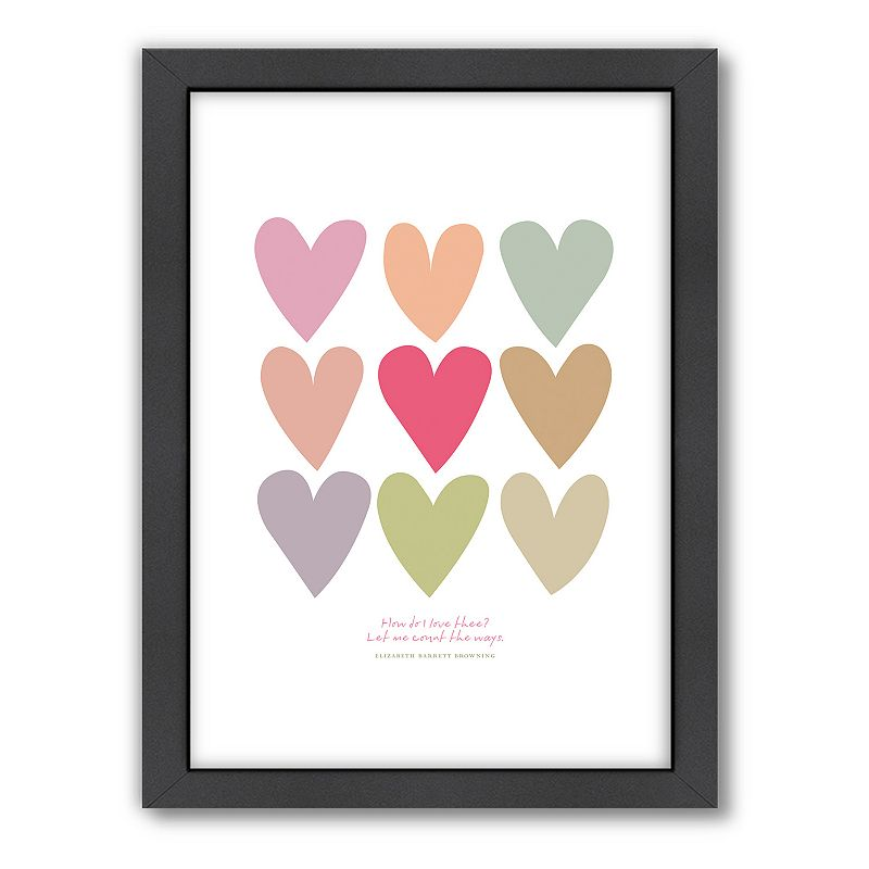Wall Art Love Hearts : Americanflat visual philosophy  love thee hearts framed