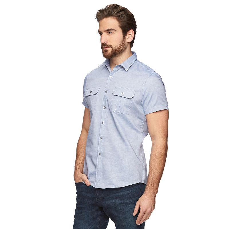 Men's Marc Anthony Slim-Fit 2-Pocket Button-Down Shirt
