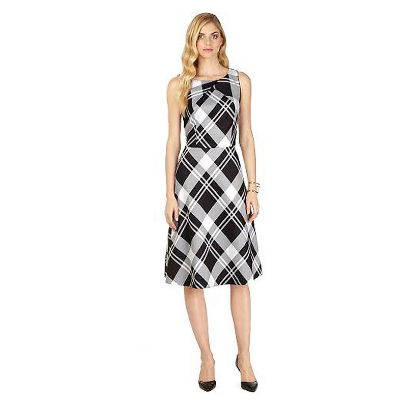 Indication Plaid Fit & Flare Dress - Women's