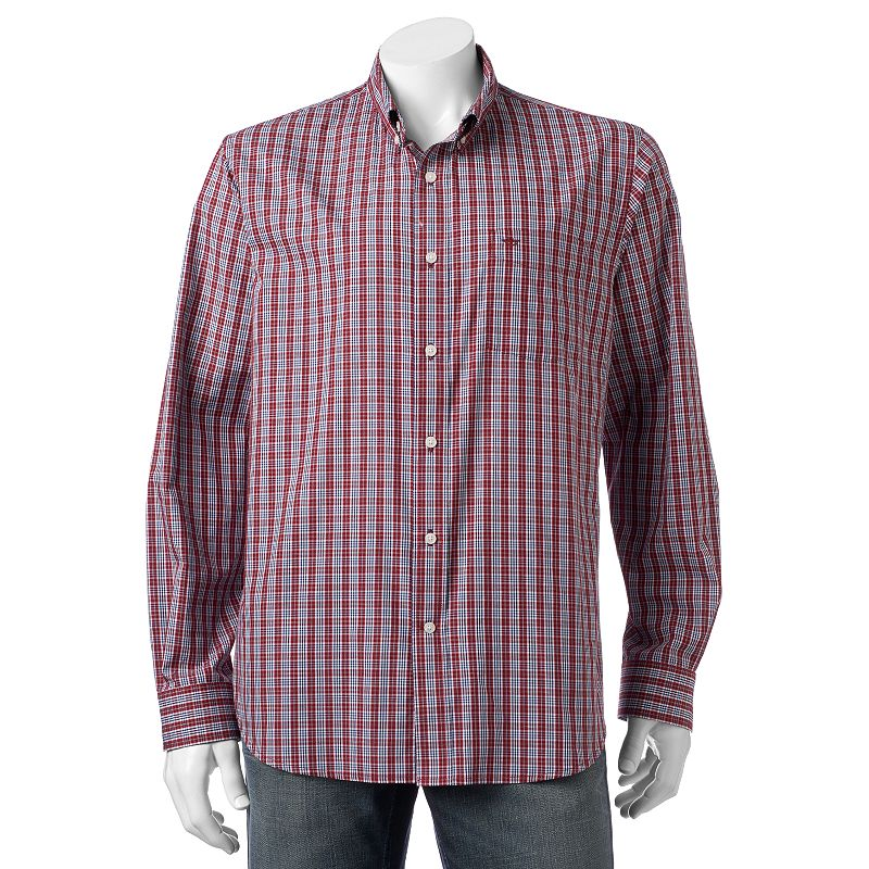 Men's Dockers Classic-Fit Plaid Brushed Twill Woven Button-Down Shirt