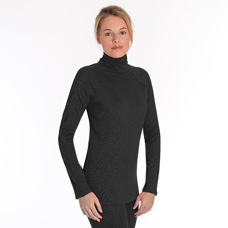 Women's Snow Angel Luxe Lace Turtleneck Base Layer Top
