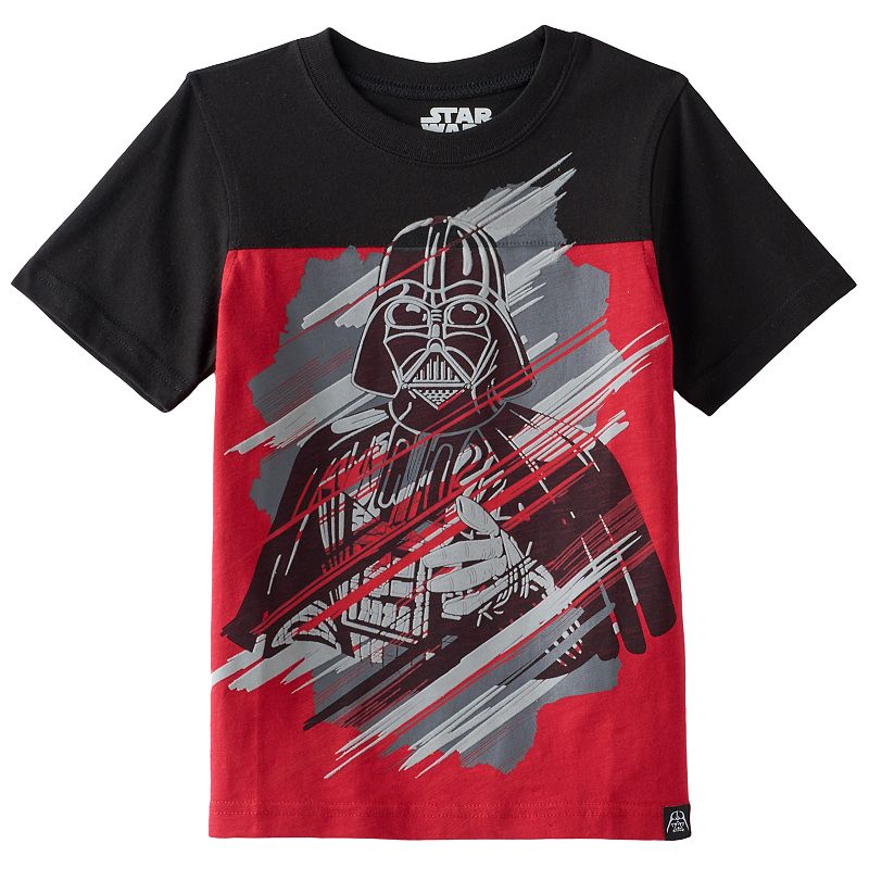 Star Wars Darth Vader Velour Boys 4-7 Tee