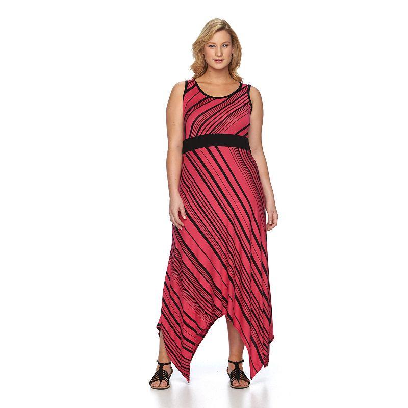 Plus Size Apt. 9® Striped Maxi Dress