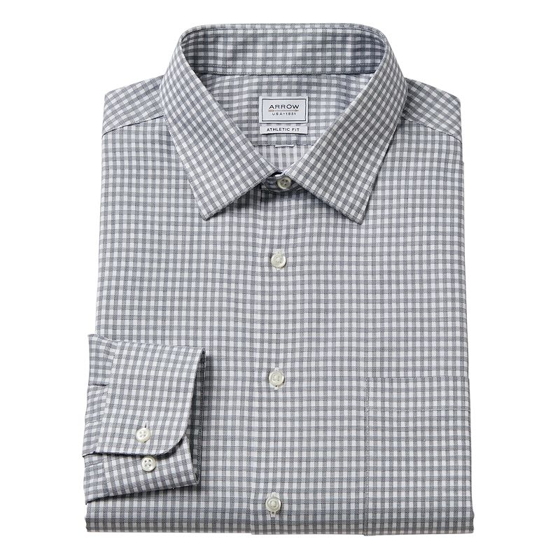 Men's Arrow Athletic-Fit Striped Dress Shirt