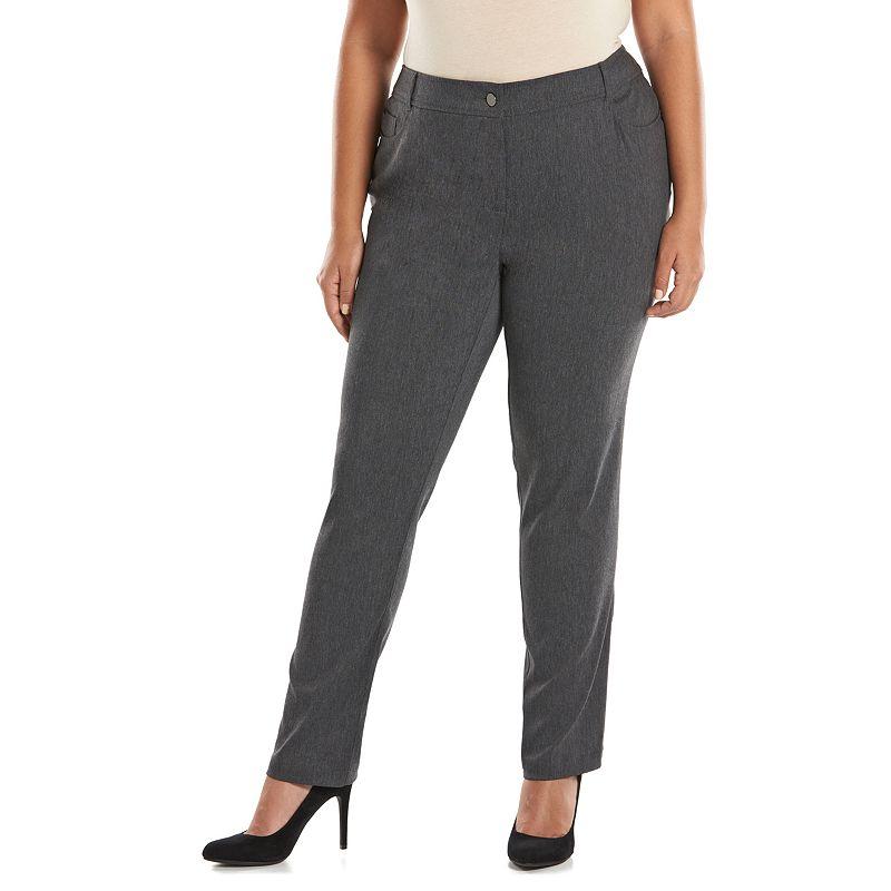 Plus Size Dana Buchman Millennium Slim Straight-Leg Pants