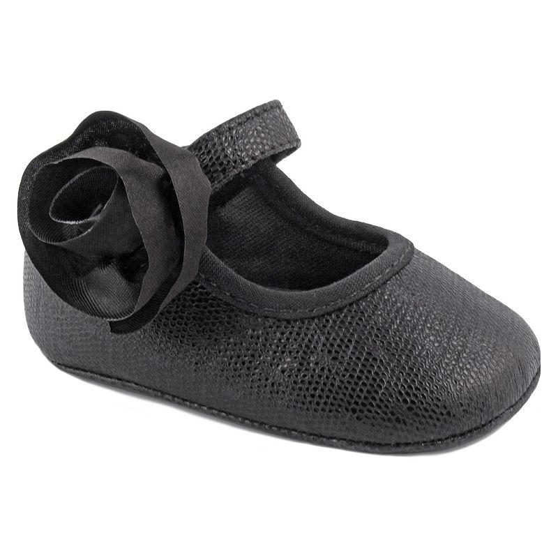Wee Kids Metallic Crib Shoes - Baby Girl