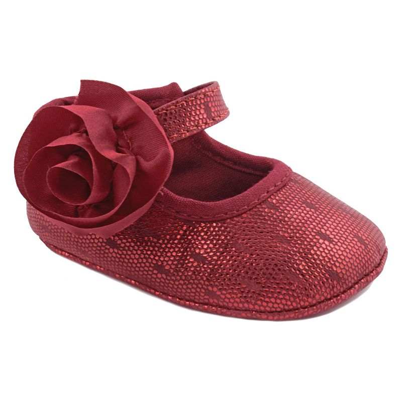 Wee Kids Metallic Crib Shoes - Baby Girl