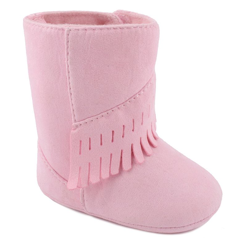 Wee Kids Fringe Boot Crib Shoes - Baby Girl