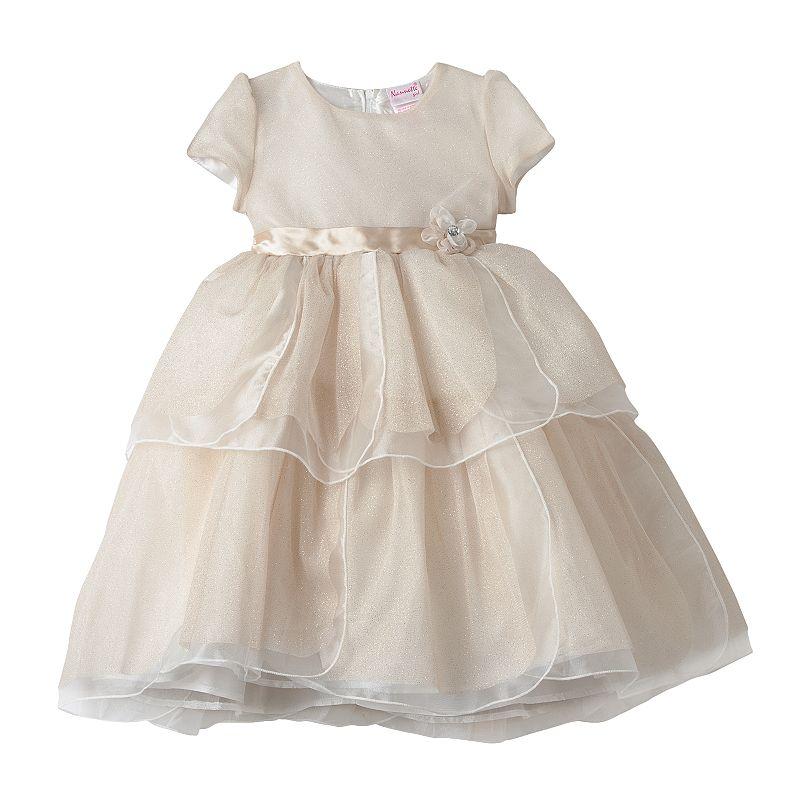Nannette Girls 4-6x Tiered Glitter Dress