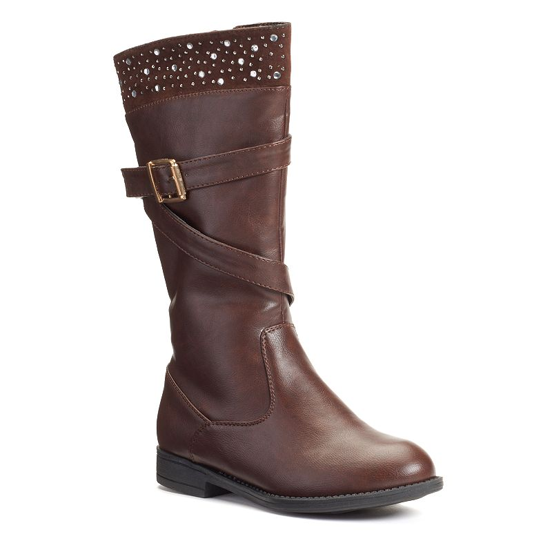 Josmo Girls' Buckle Riding Boots