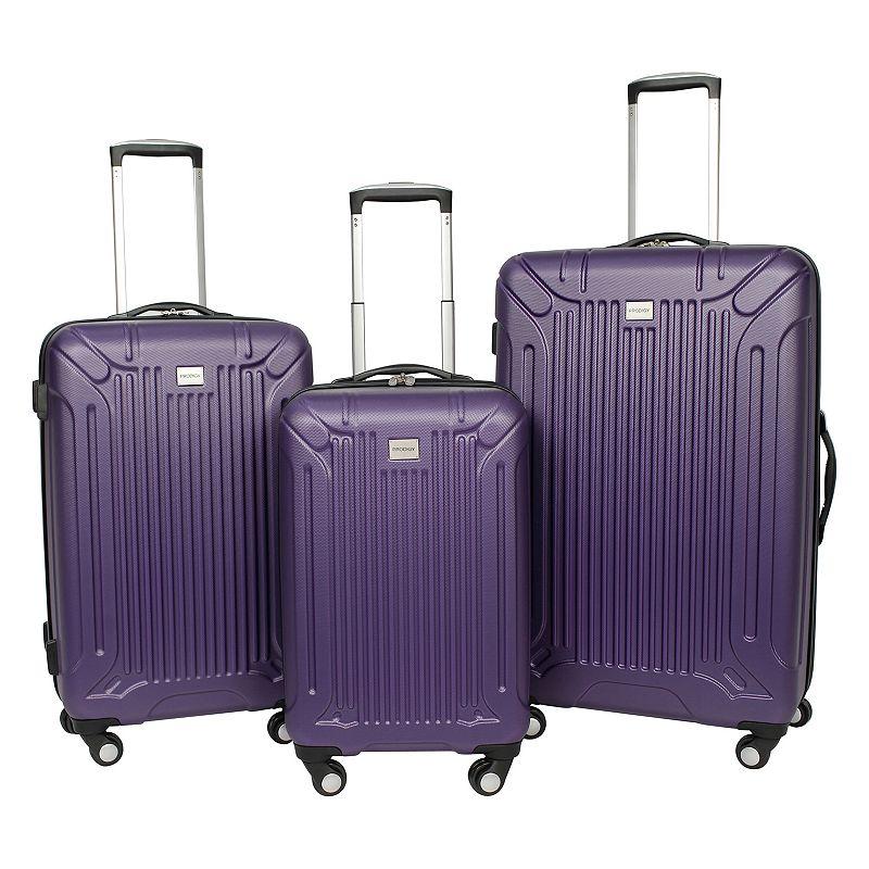 Prodigy Radius 3-Piece Hardside Spinner Luggage Set (20338-3S), Purple