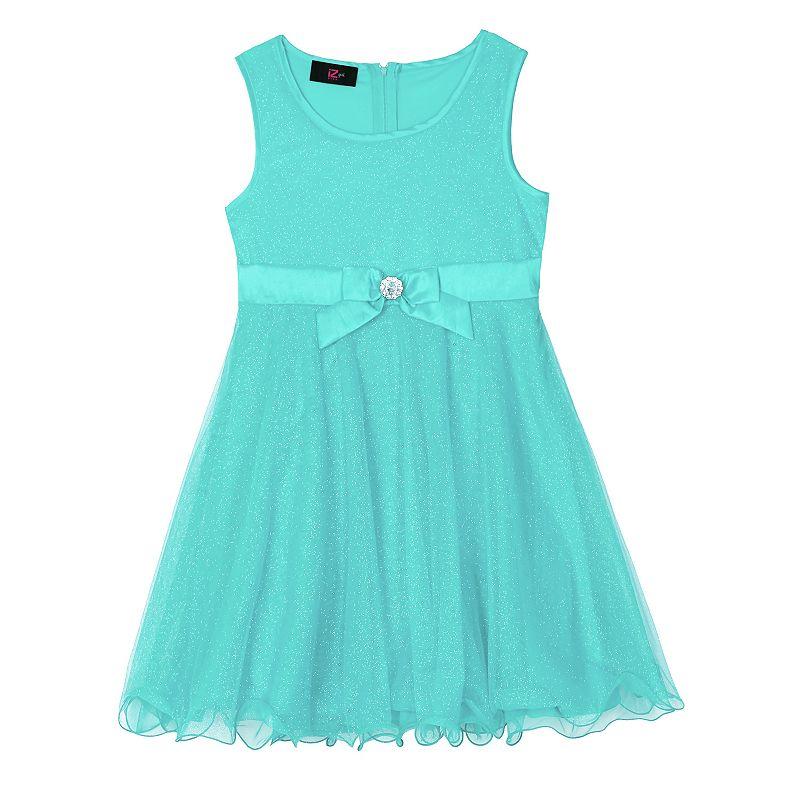 Girls 7-16 IZ Amy Byer Glitter Mesh Dress