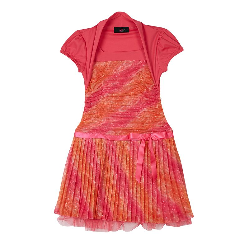 Girls 7-16 IZ Amy Byer Mock-Bolero Ombre Dress
