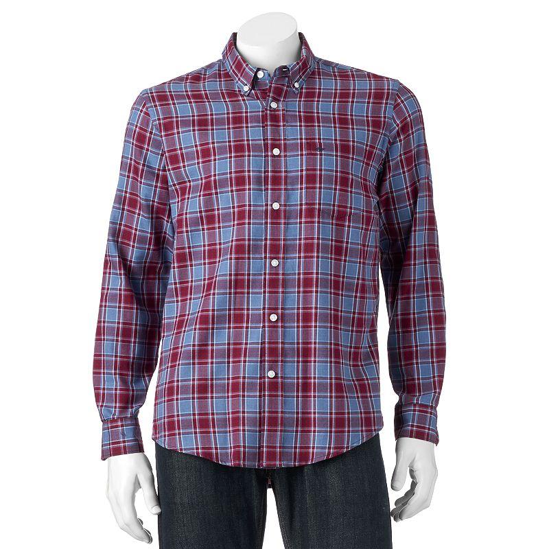 Men's Dockers Classic-Fit Plaid Button-Down Shirt
