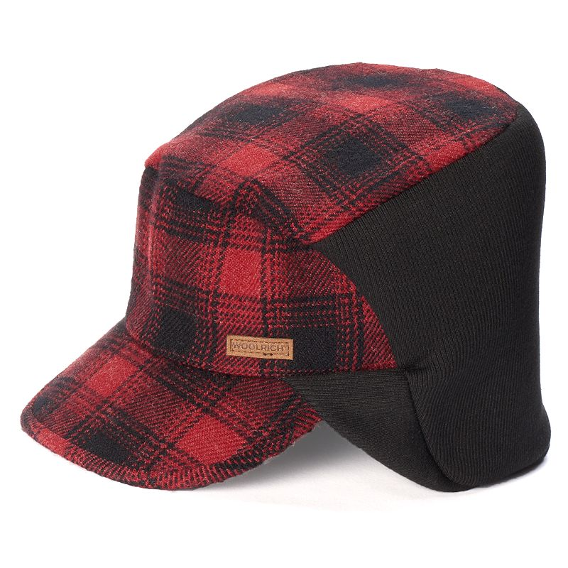 Men's Woolrich Plaid Wool-Blend Cap