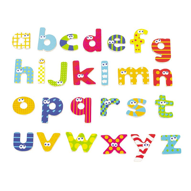 Boikido Wooden Magnetic Lower Case Letters Set