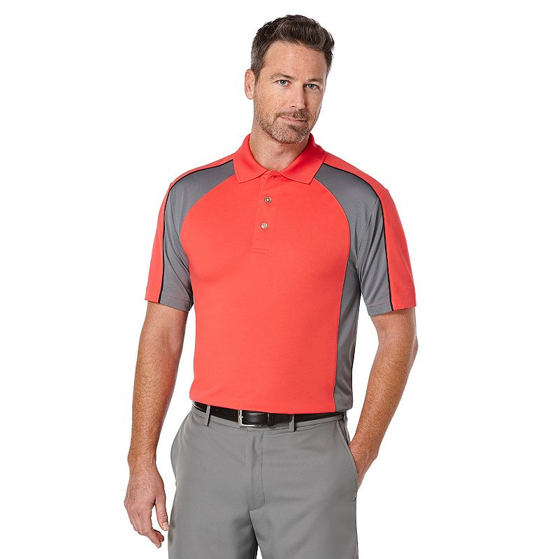 Men's Grand Slam Athletic-Fit Colorblock Performance Golf Polo