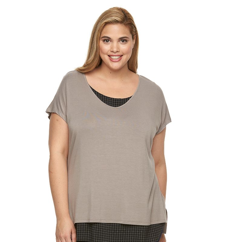 Plus Size Apt. 9® Mock-Layer V-Neck Top