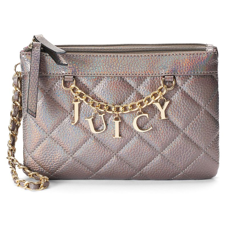 Juicy Couture Quilted Chain Wristlet