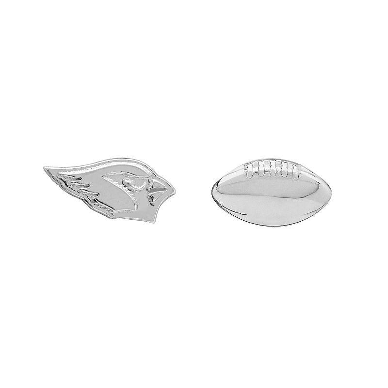 Arizona Cardinals Team Logo & Football Mismatch Stud Earrings
