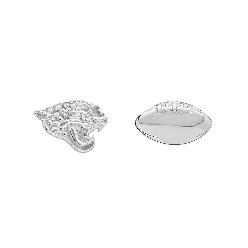Jacksonville Jaguars Team Logo & Football Mismatch Stud Earrings