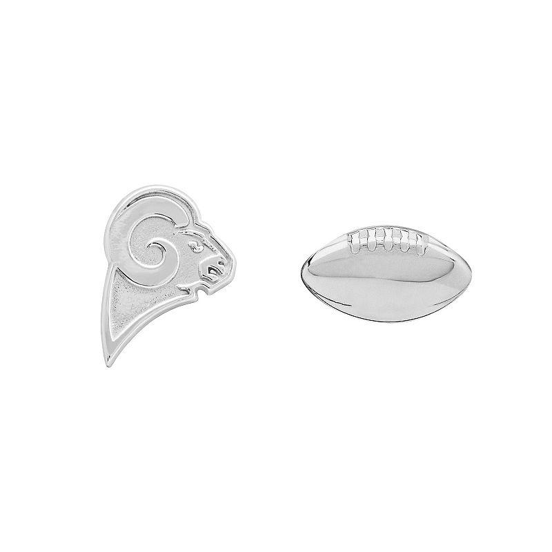 St. Louis Rams Team Logo & Football Mismatch Stud Earrings