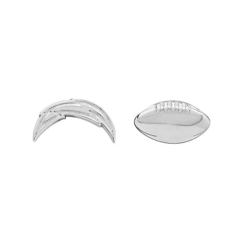 San Diego Chargers Team Logo & Football Mismatch Stud Earrings