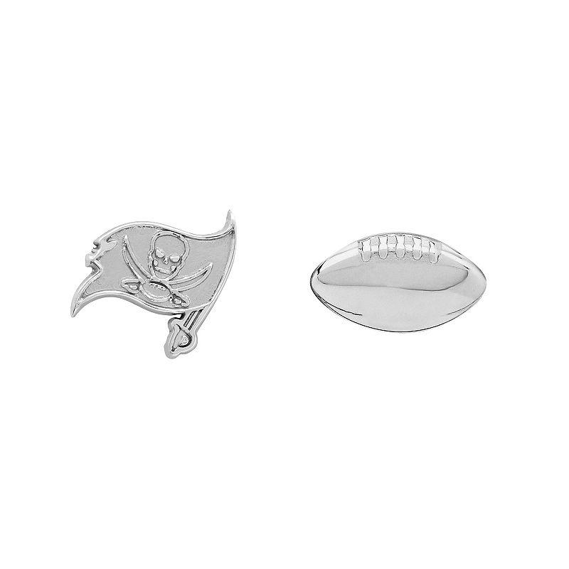 Tampa Bay Buccaneers Team Logo & Football Mismatch Stud Earrings