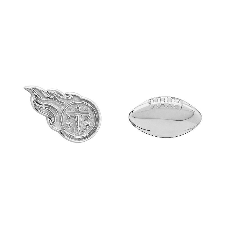 Tennessee Titans Team Logo & Football Mismatch Stud Earrings