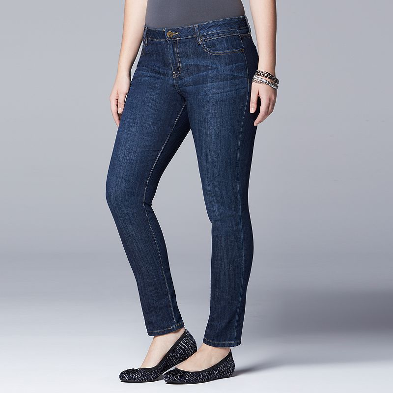 Plus Size Simply Vera Vera Wang Skinny Jeans
