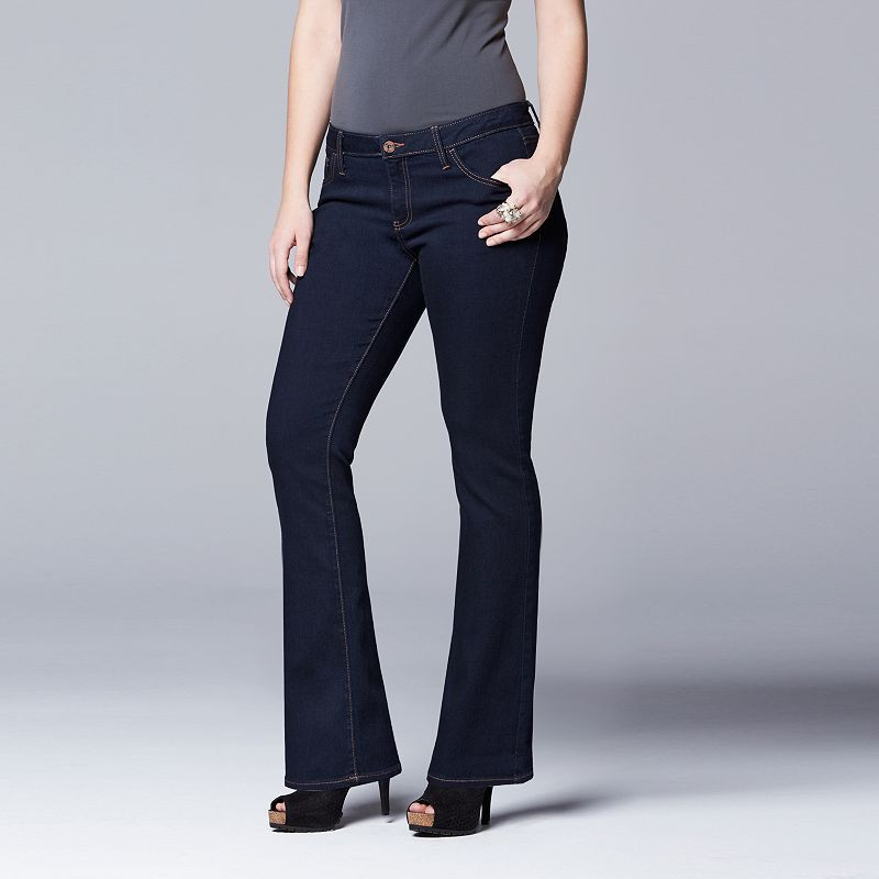 Plus Size Simply Vera Vera Wang Bootcut Jeans