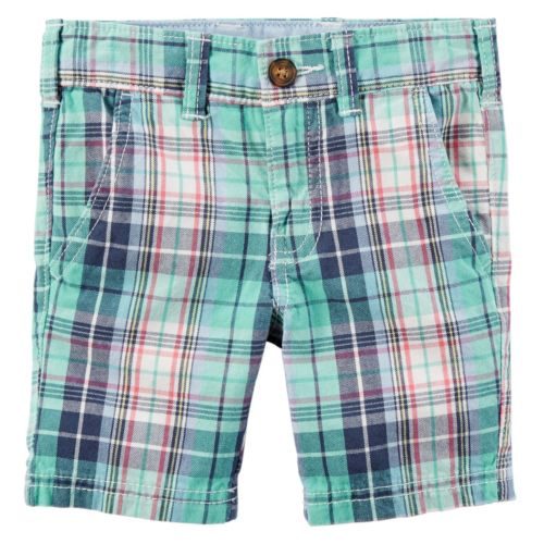 Boys 4-8 Carter's Woven Plaid Shorts