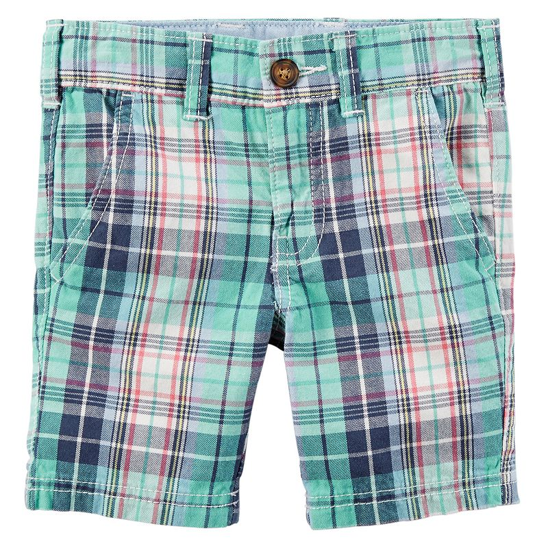 Boys 4-8 Carter's Woven Plaid Shorts
