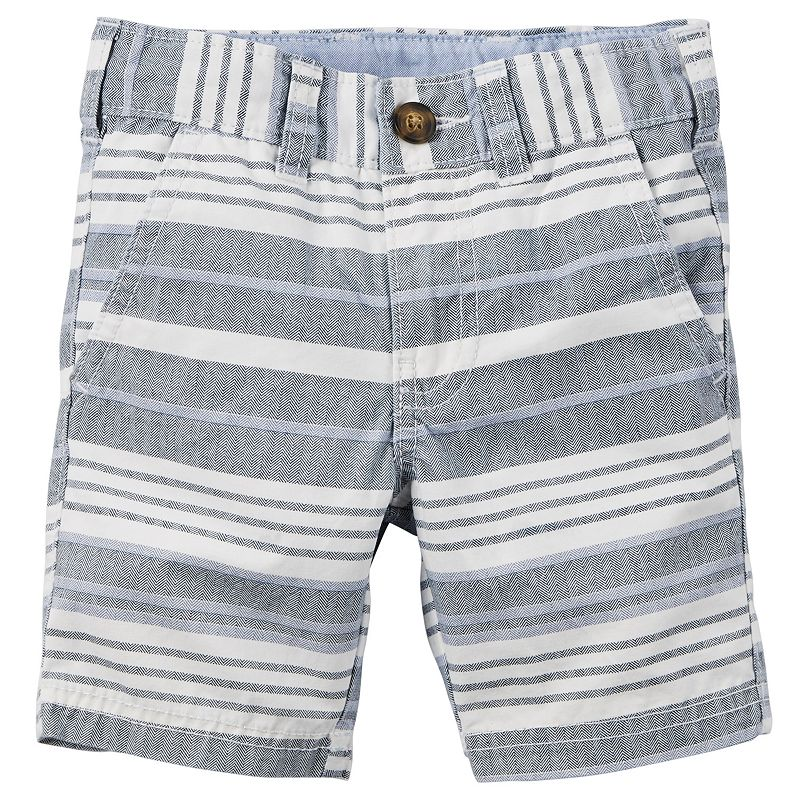 Boys 4-8 Carter's Striped Herringbone Shorts