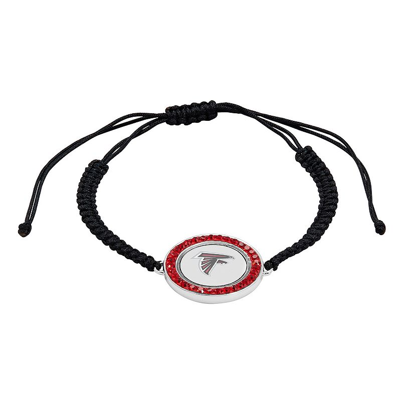 Atlanta Falcons Team Logo Crystal Slipknot Bracelet - Made with Swarovski Crystals