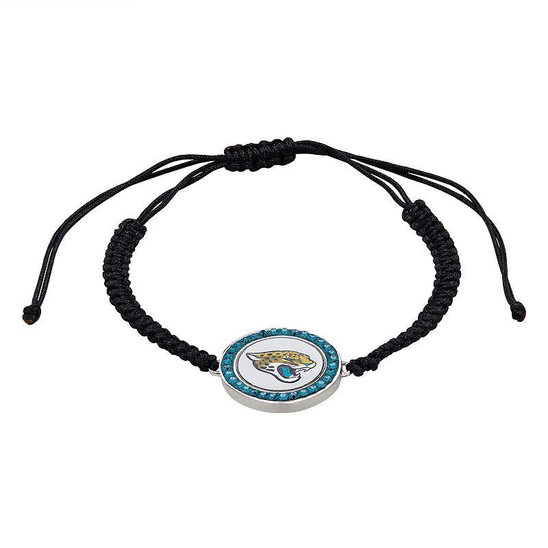 Jacksonville Jaguars Team Logo Crystal Slipknot Bracelet - Made with Swarovski Crystals
