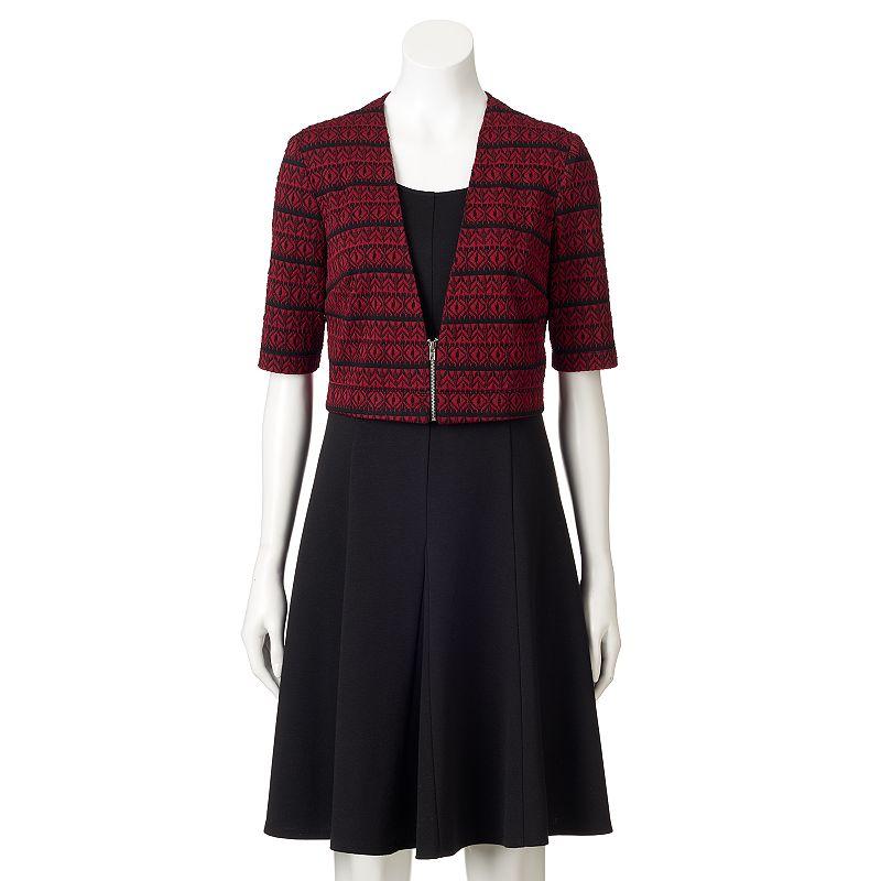 Perceptions A-Line Dress & Jacket Set - Women's