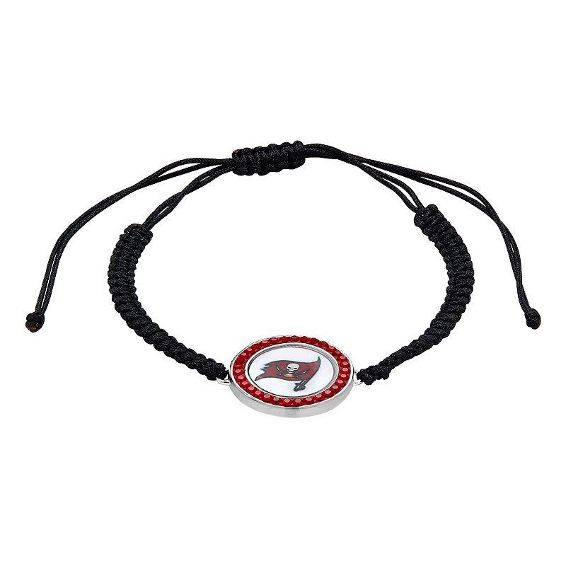 Tampa Bay Buccaneers Team Logo Crystal Slipknot Bracelet - Made with Swarovski Crystals